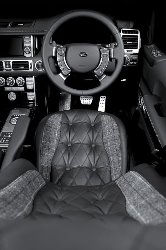 the a kahn design range rover with harris tweed. Black Bedroom Furniture Sets. Home Design Ideas