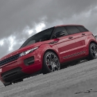 A Kahn Design Red Evoque Driven by Amy Willerton