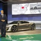 Takanobu Ito poses with Acura NSX Concept