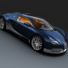 Bugatti Veyron Grand Sport Blue Carbon and Polished Aluminum