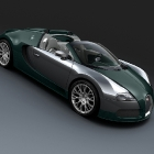 Bugatti Veyron Grand Sport Green Carbon and Polished Aluminum