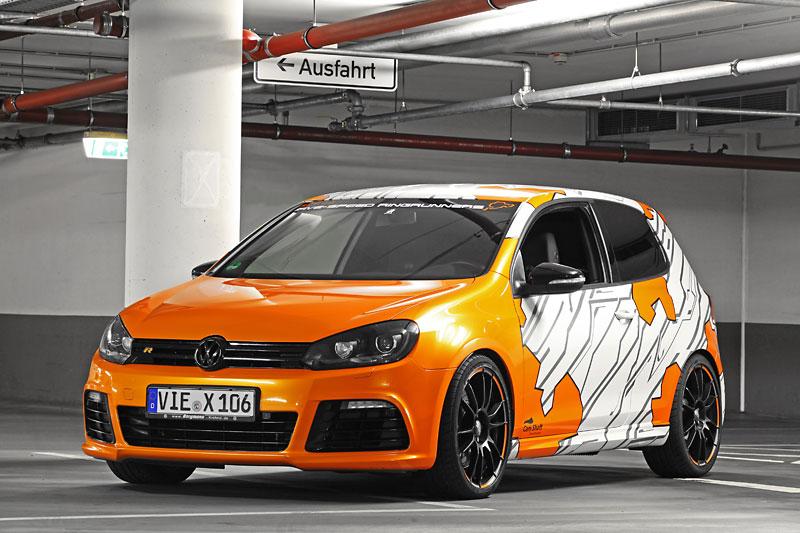 Cam Shaft Wraps the Volkswagen Golf R in Electric Orange