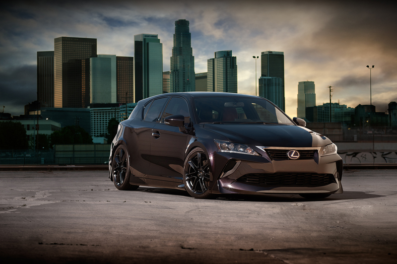 the five axis lexus ct200h tuning program at sema. Black Bedroom Furniture Sets. Home Design Ideas
