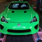 Green Lexus LFA