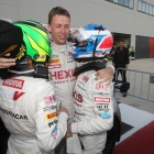 Hexis Racing Celebrating a 1 and 2 lockout in Qualifying