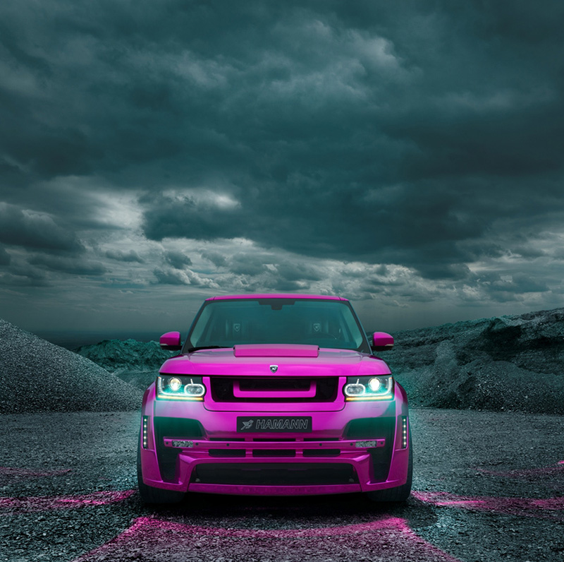 The New Hot Pink Hamann Motorsport Range Rover Myst 200 Re