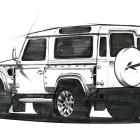 Kahn Land Rover Defender Concept 17 Initial Sketch