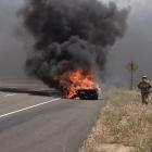 Lamborghini Aventador Test Drive Fire