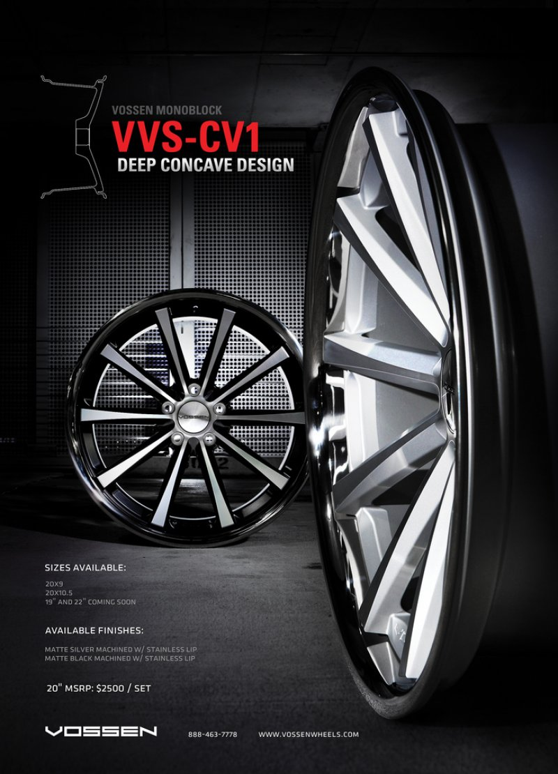 Maserati Quattroporte W Vossen Vvs Cv1 Wheels Featured