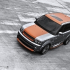 Project Kahn Range Rover Vesuvius Orange and Orkney Grey