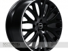 RS-XF Wheel in Black w/ White Stripe (shown with optional Range Rover cap)