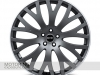 RS-XF Wheel in Matte Grey w/ White Stripe (shown with optional Range Rover cap)