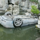 SLS AMG Pond Crash