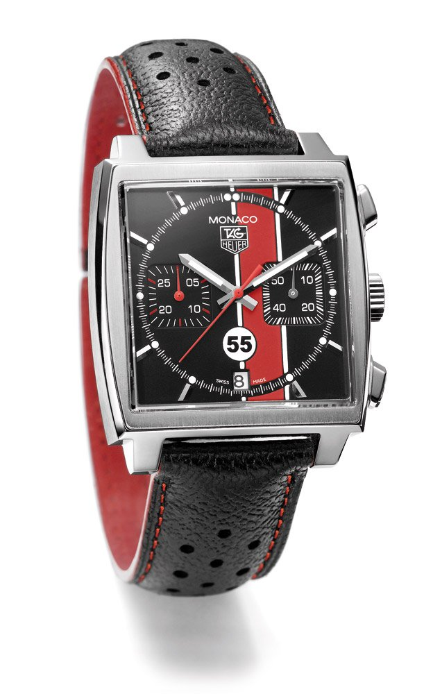 tag heuer monaco 55 porsche club of america timepiece. Black Bedroom Furniture Sets. Home Design Ideas