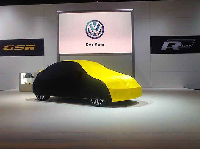 The new Volkswagen Beetle GSR at the 2013 Chicago Auto Show