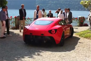 Aston Martin V12 Zagato at the 2011 Concorso d'Eleganza Villa d'Este Video