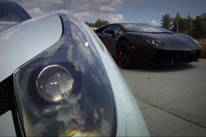 Lamborghini Aventador vs Twin Turbo Ferrari 458