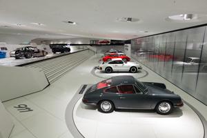 Porsche 911 Identity exhibit at the Porsche Museum