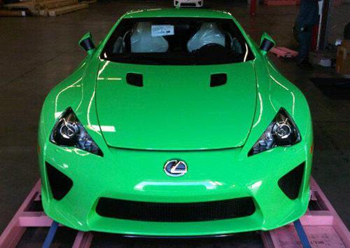 Lime Green Lexus LFA