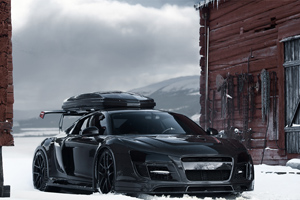 Jon Olsson shows off his new Audi R8 Snow-Mobile