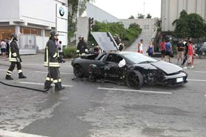 Lamborghini BMW Dealership Crash