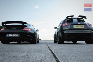 The 911 GT2 RS takes on the Nissan Juke R – Video
