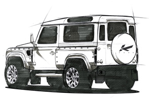 Kahn Land Rover Defender Concept 17 sketch