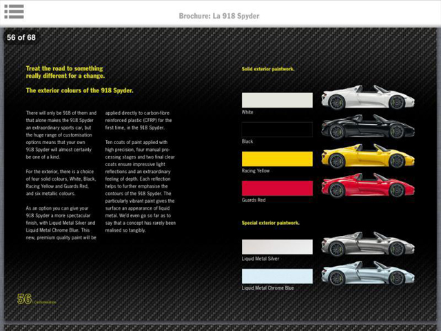 drool the leaked porsche 918 spyder brochure. Black Bedroom Furniture Sets. Home Design Ideas