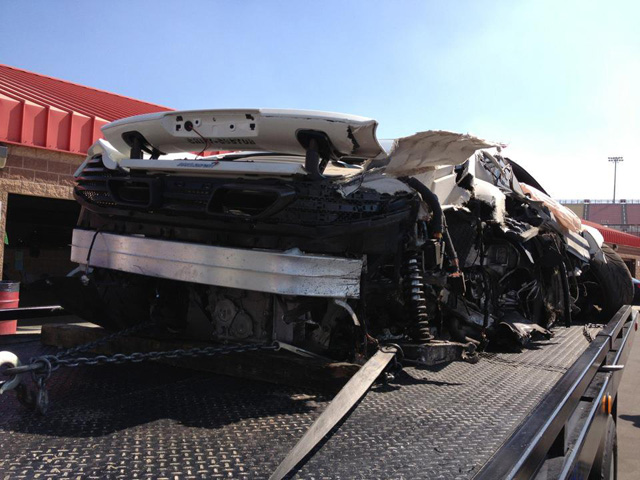 wrecked MP4-12C