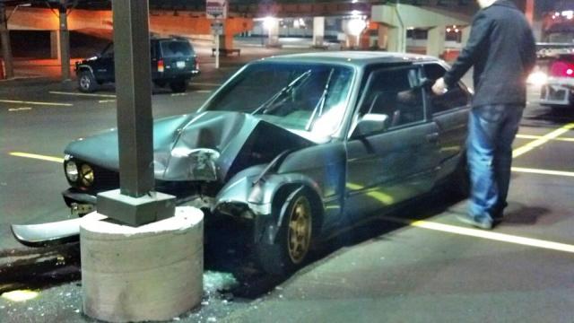 FF BMW E30 Crash