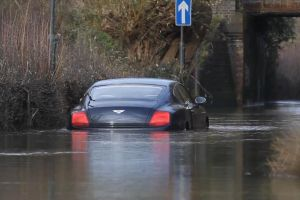 Friday FAIL: Flooded Bentley
