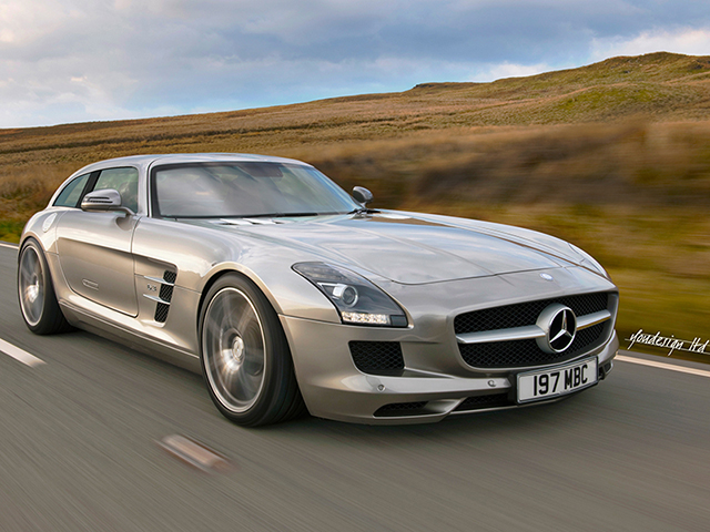 What if the Mercedes Benz SLS AMG was a Shooting Brake?