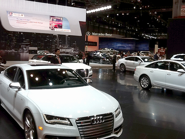 Audi stand at the 2013 Chicago Auto Show