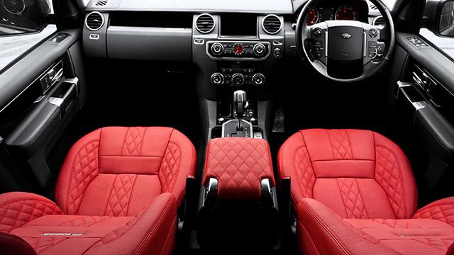 Kahn Stornoway Grey Land Rover Discovery Interior
