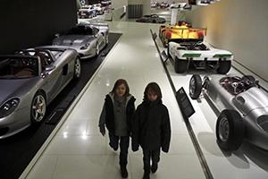 Kids in Porsche Museum