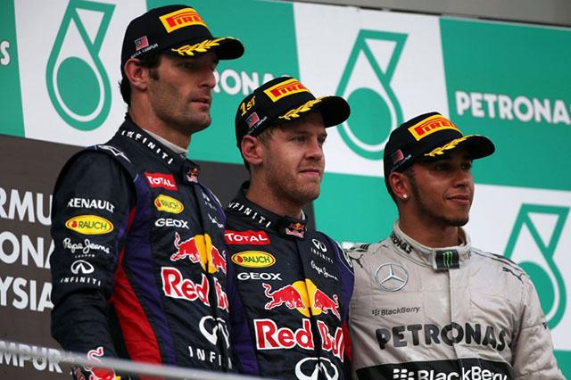 Malaysian GP Podium