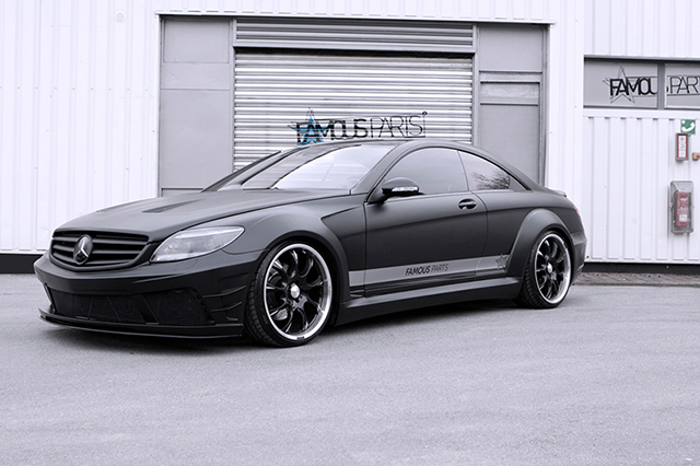 Famous parts gets custom with the mercedes benz cl500 for Mercedes benz custom parts