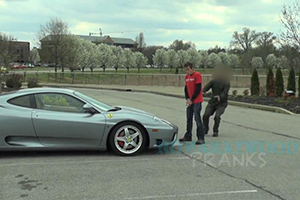 Ferrari Pee Prank