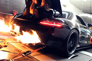 SLS AMG Exhaust flames