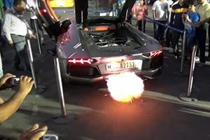 Aventador Flames
