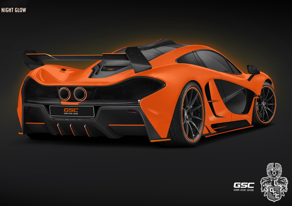 German Special Customs McLaren P1 Night Glow