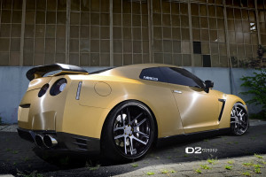 Matte Gold GT-R w/D2Forged CV08 Deep Concave Wheels