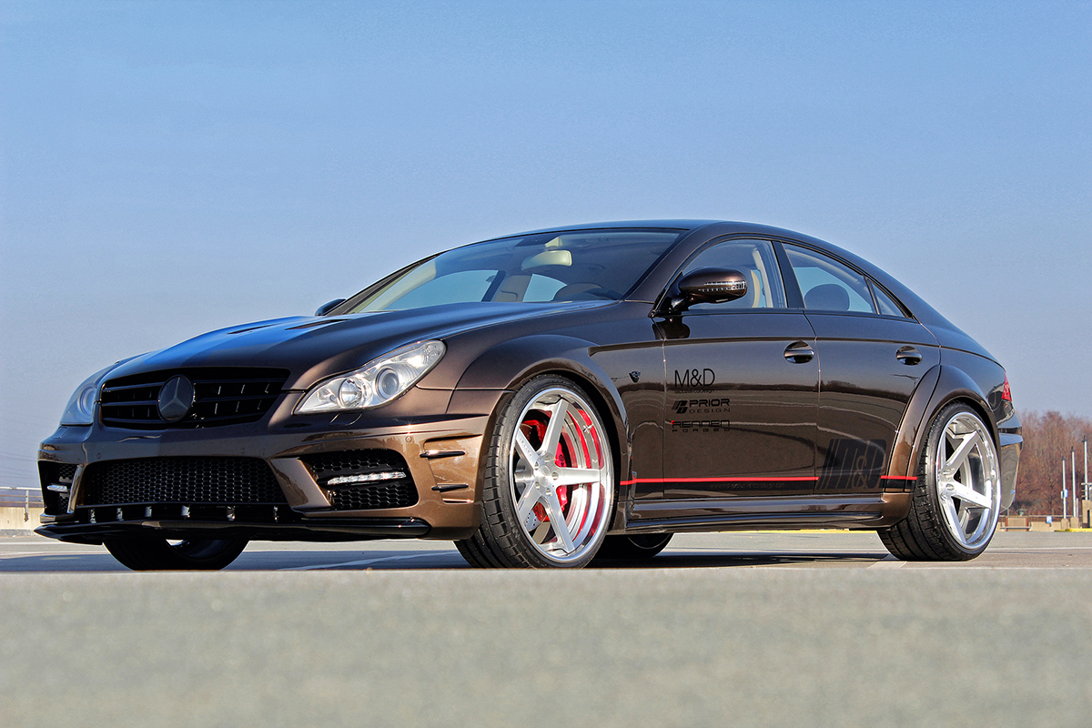 Prior design gets wide with the mercedes benz cls w219 for Mercedes benz black edition