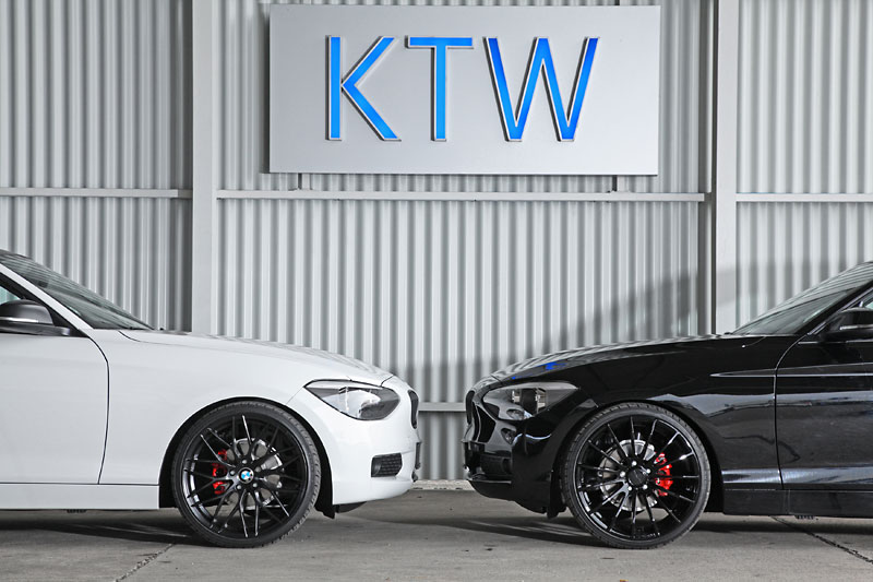 Black and White KTW Tuning BMW 116i