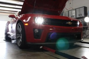 Here's a 876 HP Hennessey Performance HPE1000 Camaro ZL1 on the Dyno