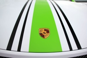 Fostla Wraps up a 991 Porsche 911 GT3 with some Electric Green and White