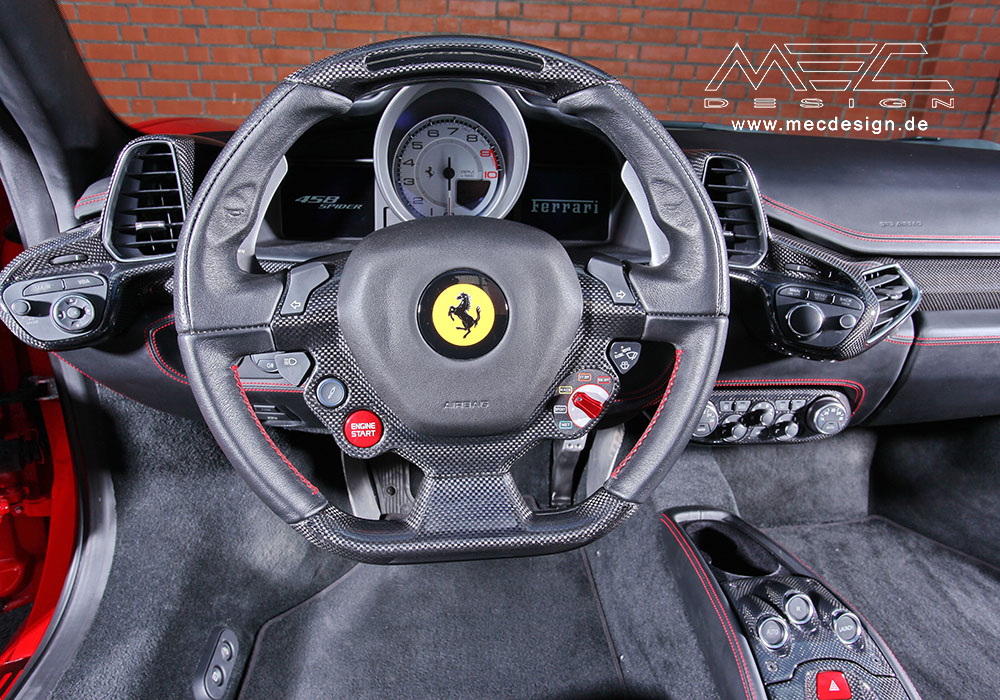 ferrari 458 spider black interior. mec design ferrari 458 inside spider black interior e