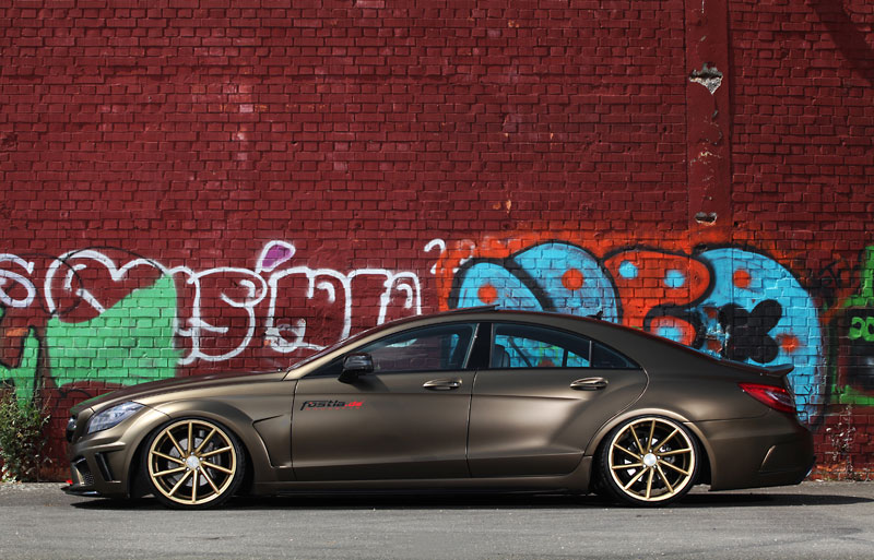 wrapped lowered and tuned the fostla mercedes benz cls 350 cdi. Black Bedroom Furniture Sets. Home Design Ideas