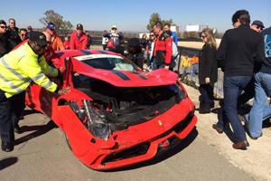 458 Speciale Crash