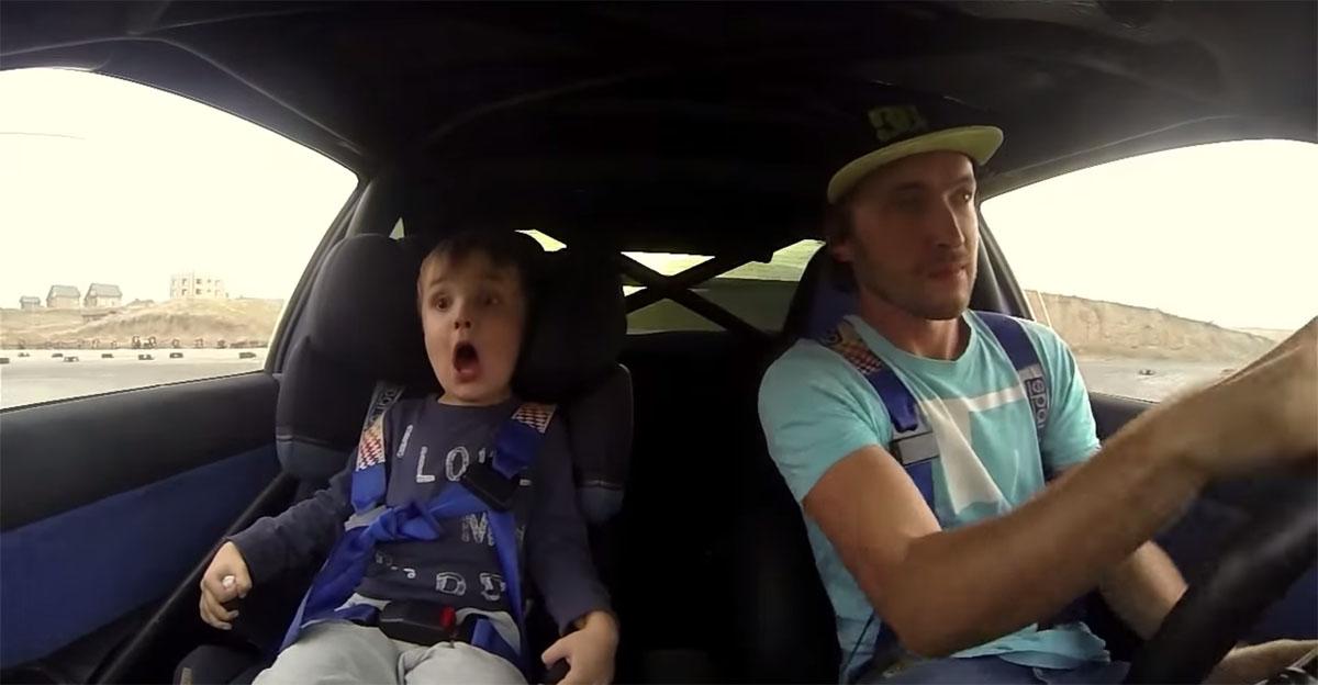 Kid drift Subaru